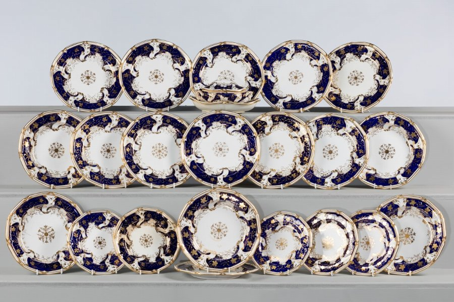 Mid 19th Century Staffordshire Partial Dinner Service