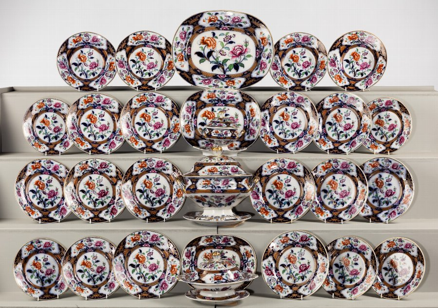 Mid 19th Century Staffordshire Part Dinner Service