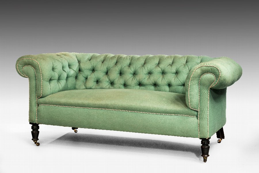 Antique Edwardian Period Chesterfield Sofa