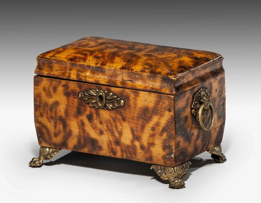 Regency Period Faux Tortoiseshell Tea Caddy