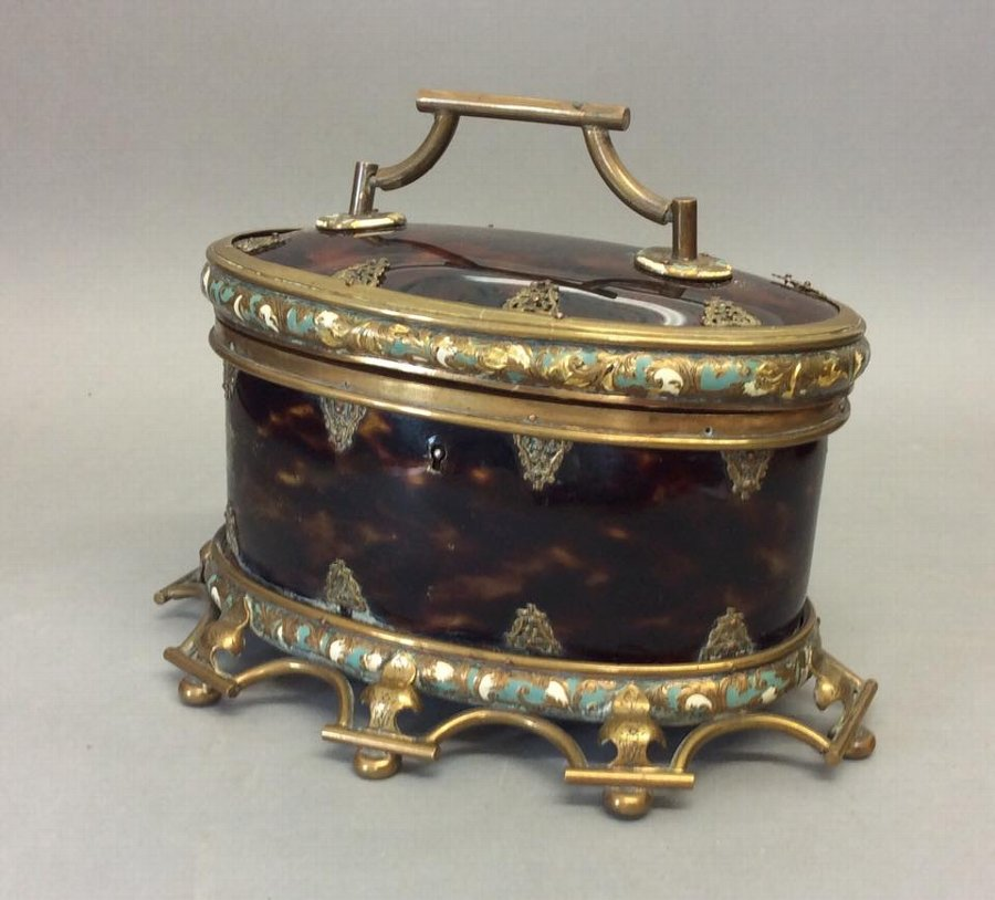 Mid 19th Century Faux Tortoiseshell Caddy