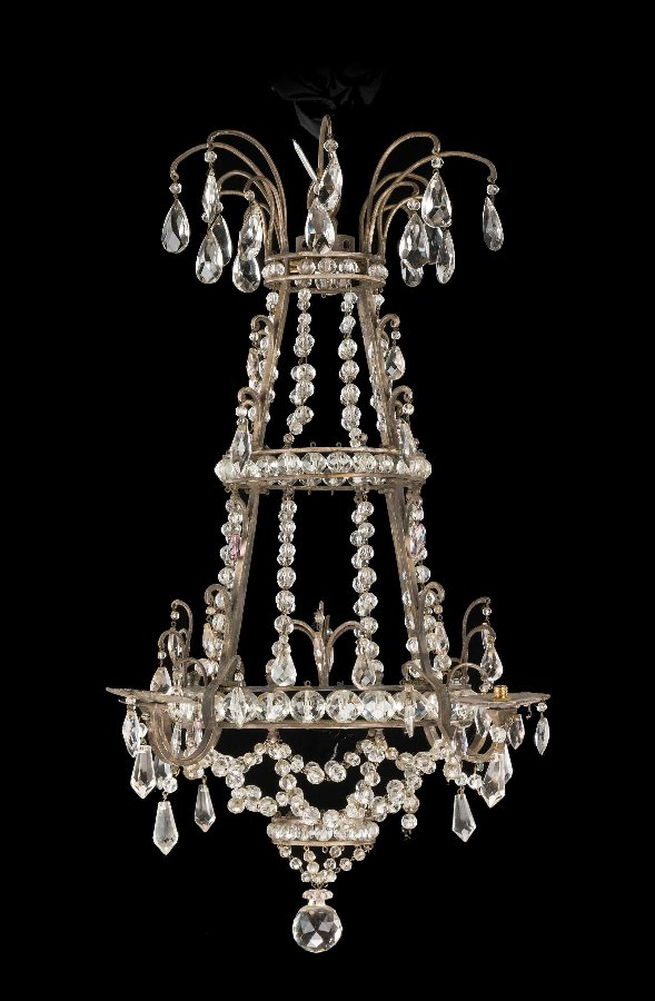Antique 19th Century Gilt Bronze Chandelier