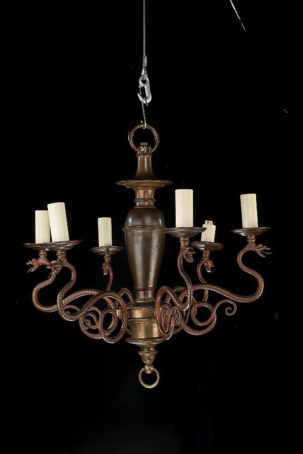 Late 19th Century Six Arm Chandelier