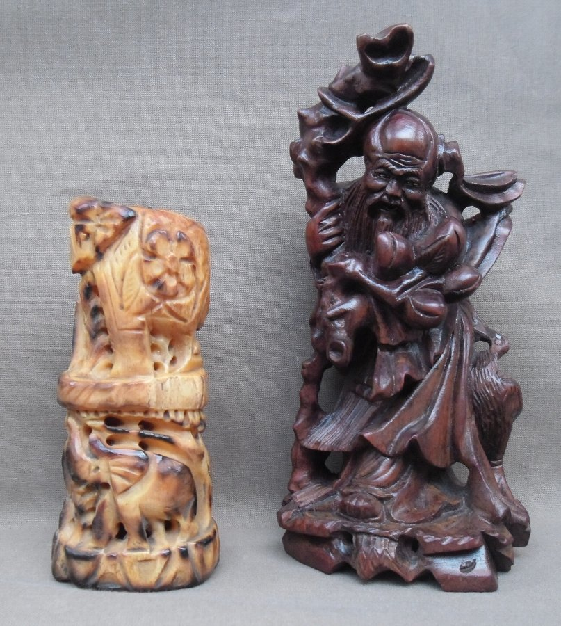 Two Chinese sculptures
