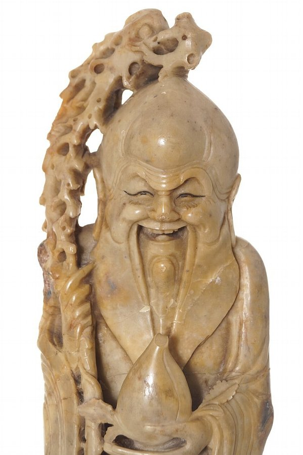 Nineteenth-century Chinese soap stone carving