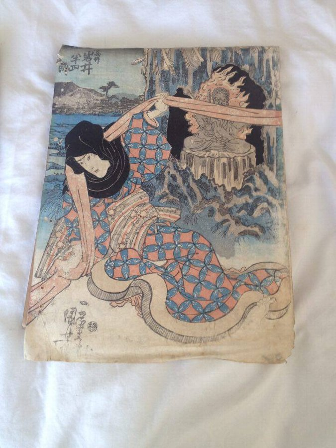Original Colour Japanese Woodblock print