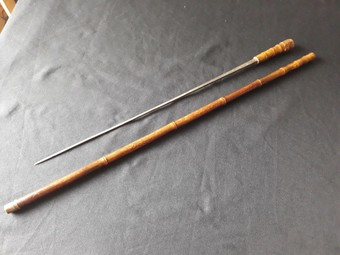 Antique BAMBOO SWORD STICK