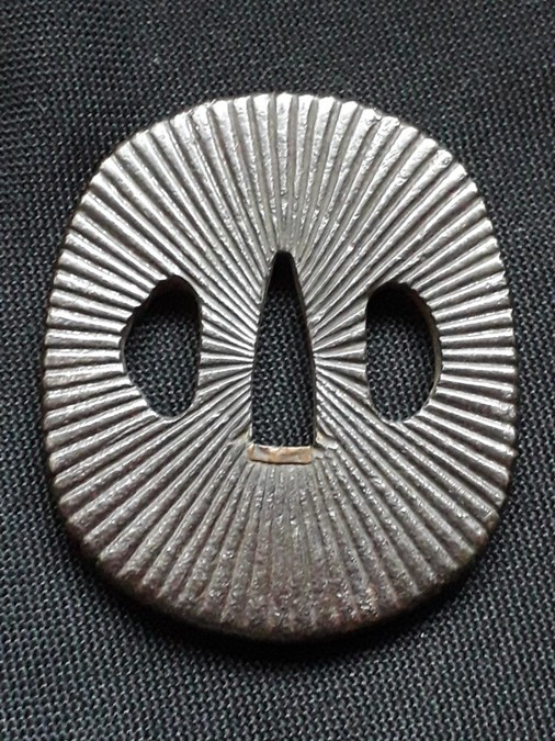 Antique JAPANESE IRON TOSHO TSUBA-- EDO PERIOD