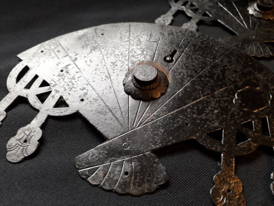 Antique JAPANESE TANSU FAN LOCKS
