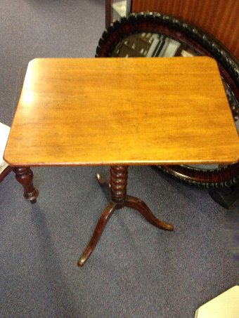 Antique Victorian Mahogany Barley Twist Tilt Top Table