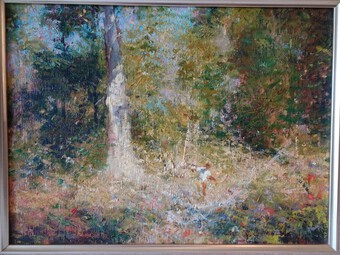 Antique Dale Marsh Oil Painting 'In the Shimmering Light'