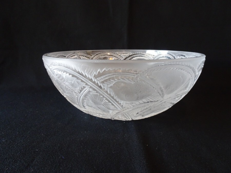 Antique Lalique Frosted Pinsons Bowl