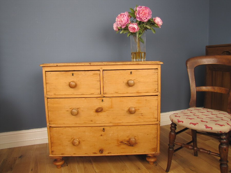 Antique 19th Century Stripped Pine Chest Of Drawers Antiques Co Uk