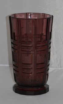 Antique Val Saint Lambert - Art Deco Luxval Vase by Charles Graffart No. 92 in 1935