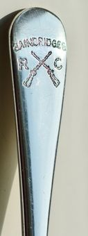 Antique Walker & Hall 1956 Solid Silver Spoon with Rifle Inscription