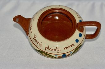 Antique 1885 / 1887 Early & Rare Torquay Pottery Tea Pot