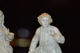 Antique Two 19th Century Continental Porcelain Figures