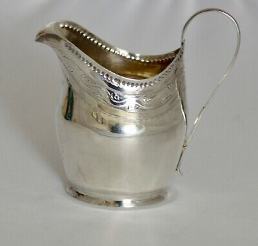1804 GEORGE 111 STERLING SILVER CREAM JUG BY LONDON'S WILLIAM BENNETT