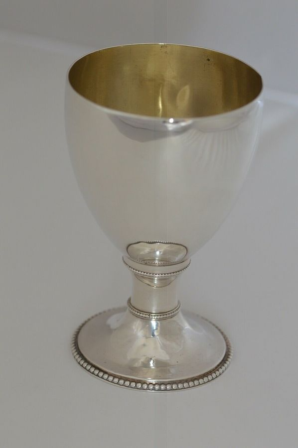 1781 - Georgian - Sterling Silver Goblet by London's Walter Tweedie