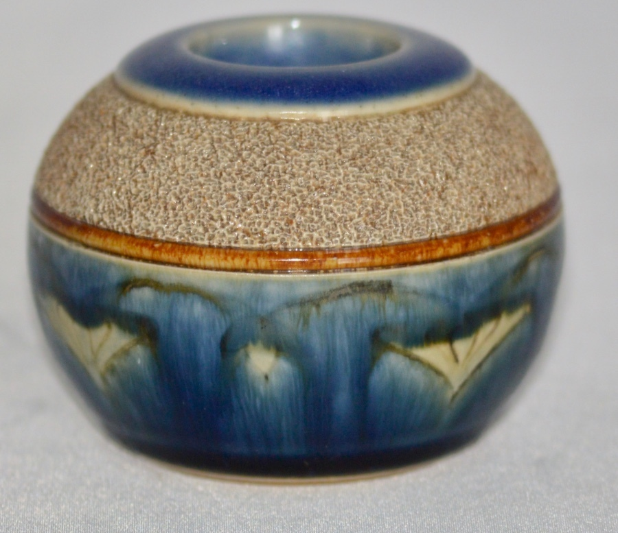 C1895 - Royal Doulton - Lambeth Stoneware Match Striker