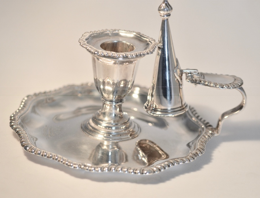 A late Victorian Silver Chamber Candlestick by Martin Hall & Co, Sheffield 1896