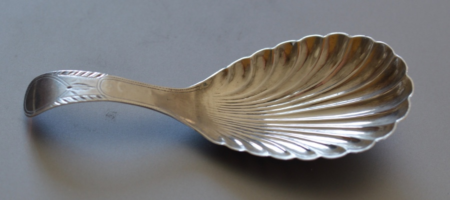 Antique Attractive Silver Caddy Spoon by Thomas Willmore, Birmingham 1800