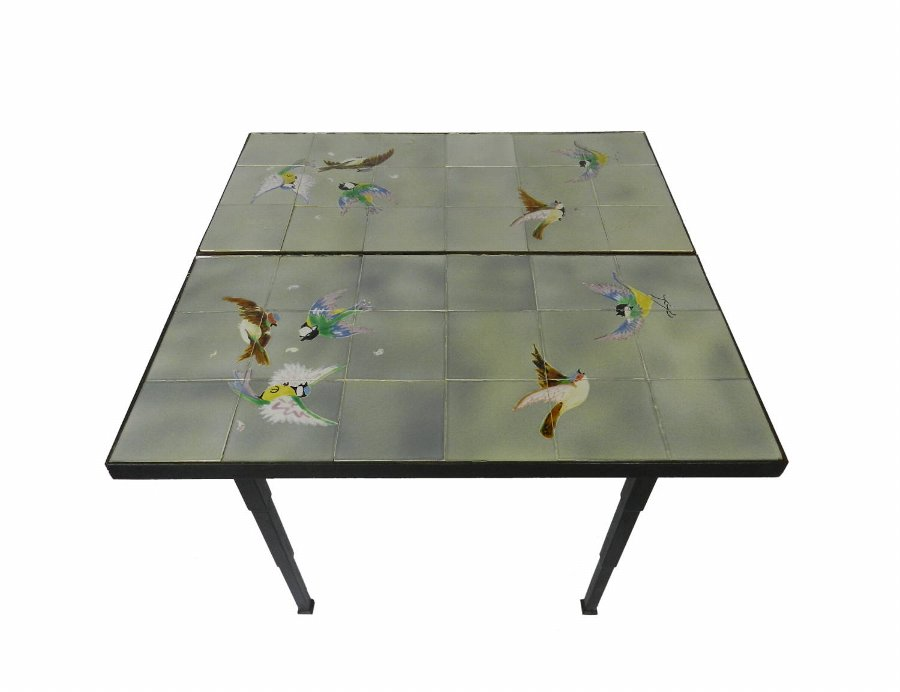 Unique French Conservatory Tiled Table
