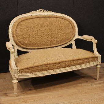 Antique French sofa in Louis XVI style of the 20th century