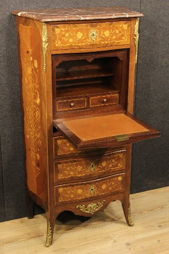 Antique French inlaid secrétaire from the early 20th century