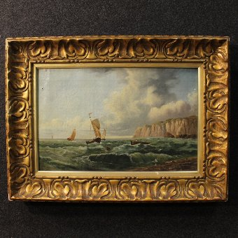 Antique Pair of French paintings signed and dated 1878