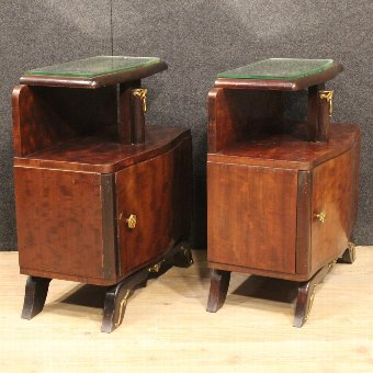 Antique Pair of French bedside tables in Art Déco style
