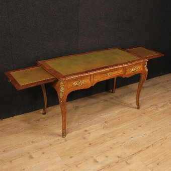 Antique French inlaid writing desk in rosewood in Louis XV style