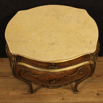 Antique Italian night stand with marble top