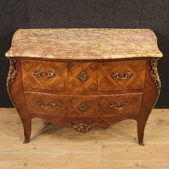 Antique French dresser in Louis XV style with marble top