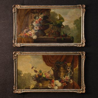 Antique Antique French still life painting of the 19th century