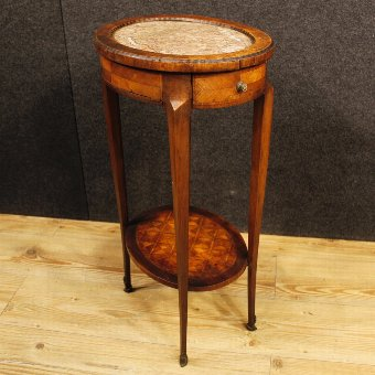 Antique Antique French inlaid side table from Napoleon III era
