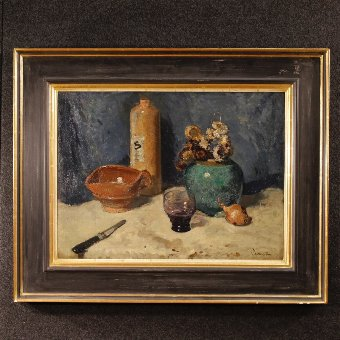 Antique Dutch signed still life painting