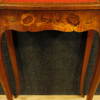 Antique French inlaid side table with two drawers