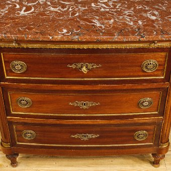 Antique French dresser in Louis XVI style with marble top