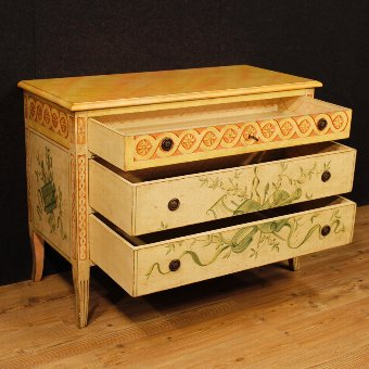 Antique French dresser in lacquered and painted wood in Louis XVI style