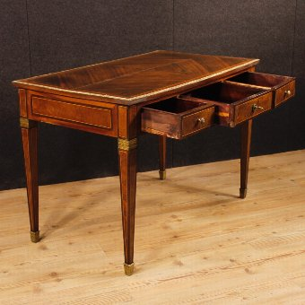 Antique French inlaid writing desk in Louis XVI style