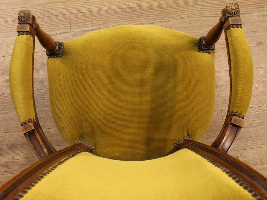 Antique Four French armchairs in Directory style of the 19th century