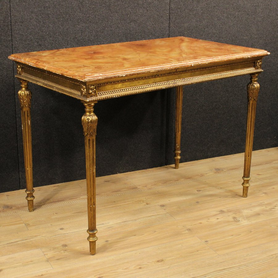 Italian gilded and lacquered table of the 20th century