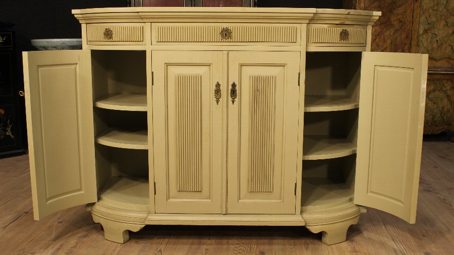 Antique French sideboard in painted wood of the 20th century