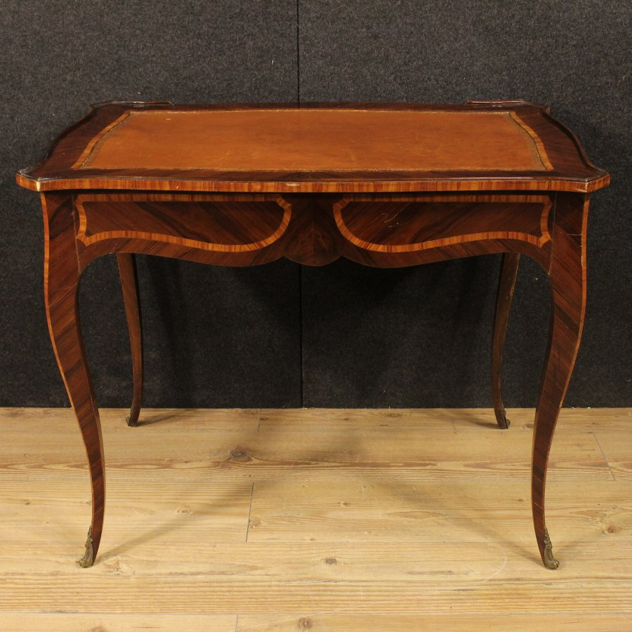 Antique Little genoese writing desk in rosewood of the 20th century