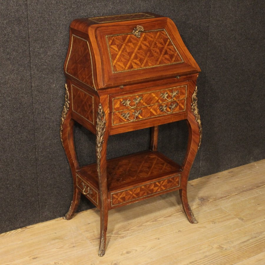 Small French bureau in rosewood