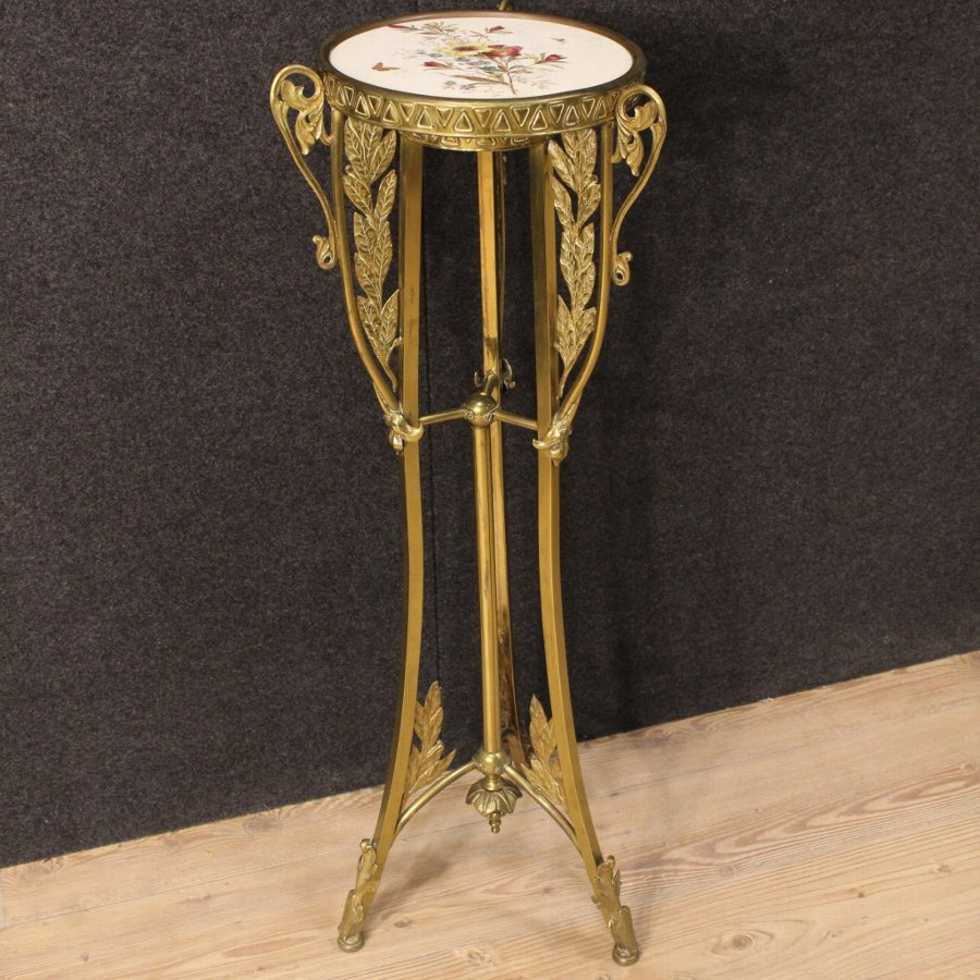 Spanish tripod table in Art Nouveau style