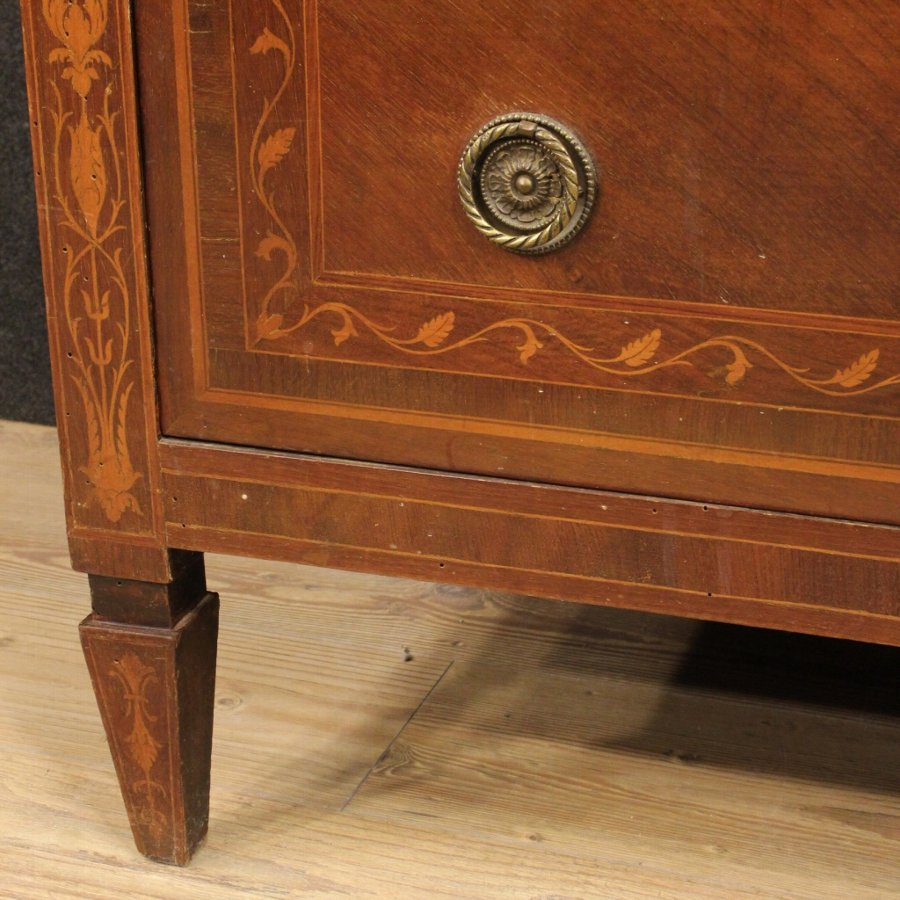 Antique Italian inlaid dresser in Louis XVI style