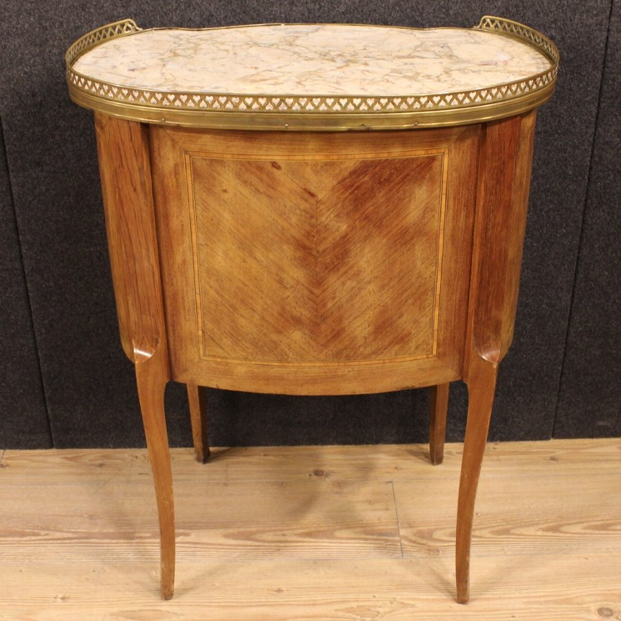 Antique French night stand in rosewood with marble top