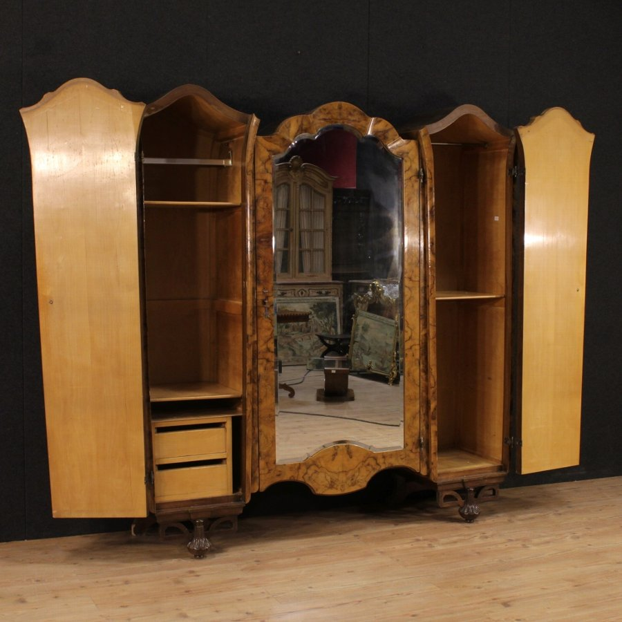 Antique Great Italian wardrobe in Art Déco style